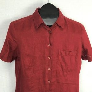 Brooks Brothers Irish Linen Button Shirt Medium